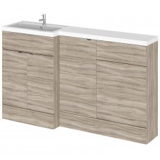 Hudson Reed Fusion LH Combination Unit with 500mm WC Unit - 1500mm Wide - Driftwood