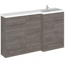 Hudson Reed Fusion RH Combination Unit with 500mm WC Unit - 1500mm Wide - Brown Grey Avola