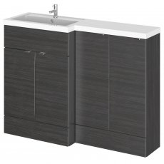 Hudson Reed Fusion LH Combination Unit with 300mm Base Unit - 1200mm Wide - Hacienda Black