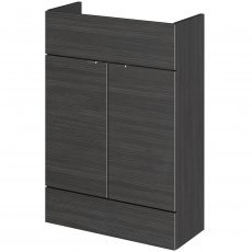 Hudson Reed Compact Fitted Vanity Unit 600mm Wide - Hacienda Black