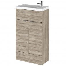 Hudson Reed Compact Fitted Vanity Unit with Basin 500mm Wide - Driftwood