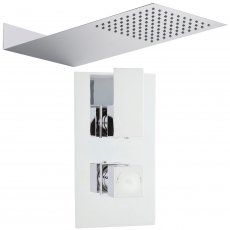Hudson Reed Art Dual Concealed Mixer Shower with Thin Fixed Head