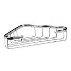 Hudson Reed Deep Corner Shower Basket, Single Tier, Chrome