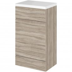 Hudson Reed Fitted WC Unit with Worktop 500mm Wide - Driftwood
