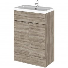 Hudson Reed Fitted Floor Standing Vanity Unit with Basin 600mm Wide - Driftwood