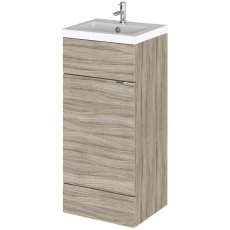 Hudson Reed Fitted Floor Standing Vanity Unit with Basin 400mm Wide - Driftwood