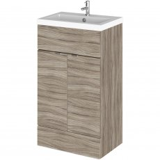 Hudson Reed Fitted Floor Standing Vanity Unit with Basin 500mm Wide - Driftwood