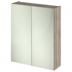Hudson Reed Fusion Mirror Unit (50/50) 600mm Wide - Driftwood