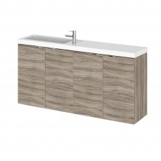 Hudson Reed Fusion Compact Combination Unit with 250mm Base Unit - 1000mm Wide - Driftwood