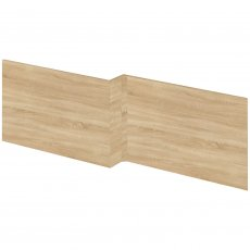 Hudson Reed Fusion Furniture Square Front Bath Panel and Plinth 520mm H x 1700mm W - Natural Oak