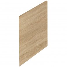 Hudson Reed Fusion Furniture Square End Bath Panel and Plinth 520mm H x 700mm W - Natural Oak