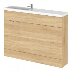 Hudson Reed Fusion Compact Combination Unit with 600mm WC Unit - 1200mm Wide - Natural Oak