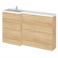Hudson Reed Fusion LH Combination Unit with 500mm WC Unit - 1500mm Wide - Natural Oak