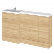 Hudson Reed Fusion LH Combination Unit with 300mm Base Unit x 3 - 1500mm Wide - Natural Oak