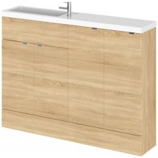 Hudson Reed Fusion Compact Combination Unit with 300mm Base Unit x 2 - 1200mm Wide - Natural Oak