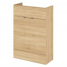 Hudson Reed Fusion Furniture Compact Vanity Unit 600mm Wide - Natural Oak