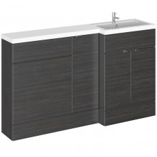 Hudson Reed Fusion RH Combination Unit with 600mm WC Unit - 1500mm Wide - Hacienda Black