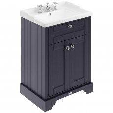 Hudson Reed Old London Floor Standing Vanity Unit with 3TH Basin 600mm Wide - Twilight Blue