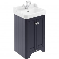Hudson Reed Old London Floor Standing Vanity Unit with 1TH Basin 560mm Wide - Twilight Blue