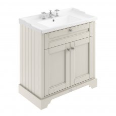 Hudson Reed Old London Floor Standing Vanity Unit with 3TH Basin 800mm Wide - Timeless Sand