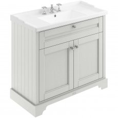 Hudson Reed Old London Floor Standing Vanity Unit with 3TH Basin 1000mm Wide - Timeless Sand