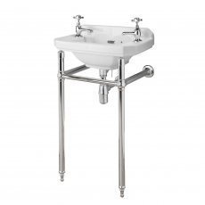 Hudson Reed Richmond Luxury Washstand, 500-560mm Basins, Chrome