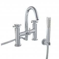 Hudson Reed Tec Crosshead Bath Shower Mixer Tap Pillar Mounted - Chrome