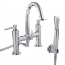 Hudson Reed Tec Lever Bath Shower Mixer Tap Pillar Mounted - Chrome