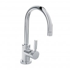 Hudson Reed Tec Single Lever Side Action Mono Basin Mixer Tap with Waste - Chrome