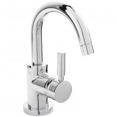 Hudson Reed Tec Side Action Mono Basin Mixer Tap with Push Button Waste