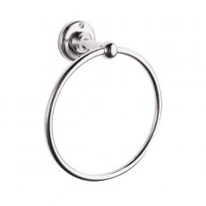 Hudson Reed Traditional Towel Ring, Chrome