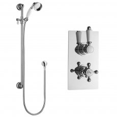 Hudson Reed Traditional Dual Concealed Shower Valve with Slide Rail Kit - Chrome
