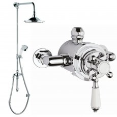 Hudson Reed Topaz Dual Exposed Mixer Shower with Shower Kit + Fixed Head