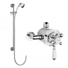 Hudson Reed Traditional Dual Exposed Shower Valve with Slider Rail Kit - Chrome