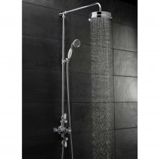 Hudson Reed Topaz Triple Exposed Mixer Shower with Shower Kit + Fixed Head - Chrome