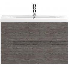 Hudson Reed Urban 2 Wall Hung Vanity Unit and Basin 2 Brown Grey Avola - 800mm Wide