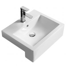 Hudson Reed Vessel Semi Recessed Basin 530mm Wide - 1 Tap Hole