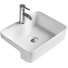 Hudson Reed Vessel Semi Recessed Basin 480mm Wide - 1 Tap Hole
