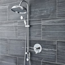 Hudson Reed Victorian Concealed Shower Mixer with Shower Kit + Fixed Head - Chrome