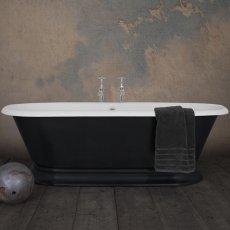Hurlingham Shikara Cast Iron Roll Top Bath 1820mm x 810mm - 0 Tap Hole