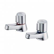 Ideal Standard Alto Bath Pillar Taps Pair Chrome