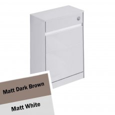 Ideal Standard Concept Air WC Unit with Worktop 600mm Wide - Matt Dark Brown / Matt White