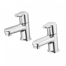 Ideal Standard Concept Blue Basin Pillar Taps Pair Chrome