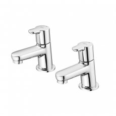 Ideal Standard Concept Blue Bath Pillar Taps Pair Chrome