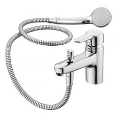 Ideal Standard Concept Blue Single Lever Exposed Bath Shower Mixer with Shower Set Chrome