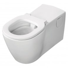 Ideal Standard Concept Freedom Elongated Rimless Wall Hung Toilet with Ring - White