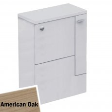 Ideal Standard Concept Space WC Unit with Worktop and Adjustable Cistern RH 600mm Wide - American Oak