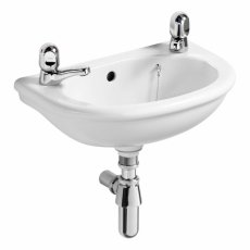 Ideal Standard Sandringham Dorex Washbasin 450mm Wide 2 Tap Hole