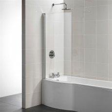 Ideal Standard Tempo Arc Shower Bath Screen 1400mm High x 820mm Wide 5mm Glass