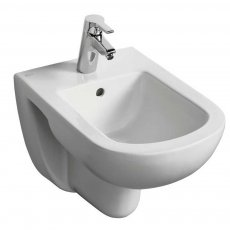 Ideal Standard Tempo Wall Hung Bidet 360mm Wide - 1 Tap Hole